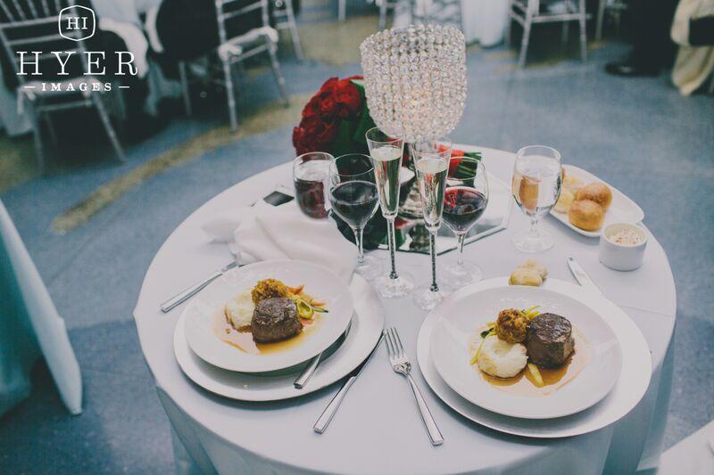 Charleston SC Aquarium Wedding Seated Dinner
